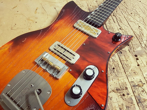 """""""Blood Orange"""" Double Standard with Mojotron and Gold Foil pickups"""