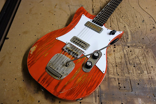 """""""Red Rebel"""" Double Standard with Mojotron and Gold Foil pickups"""