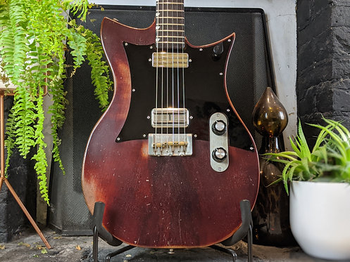 Oxblood Double Standard with Mojotron & Gold Foil pickups