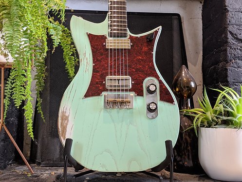 Surf Green Double Standard with Mojotron and Gold Foil pickups