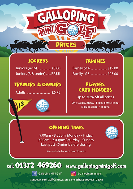 Galloping Mini Golf prices