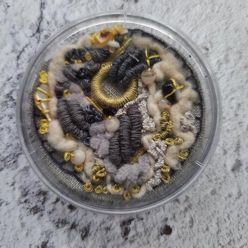 Petri dish embroidery 'Fragments 2'