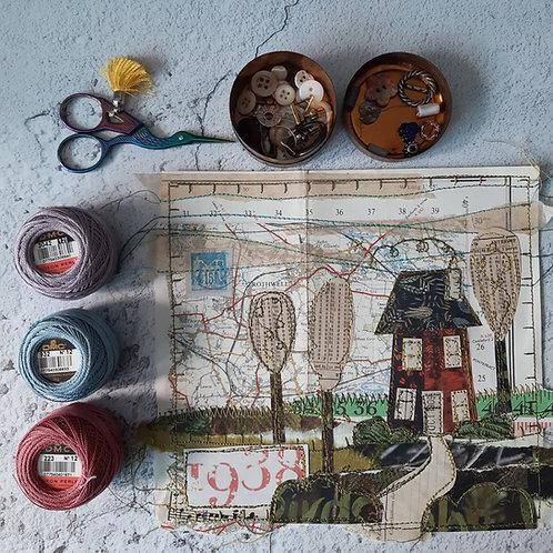 Online workshop Stitched collage 'HOME'