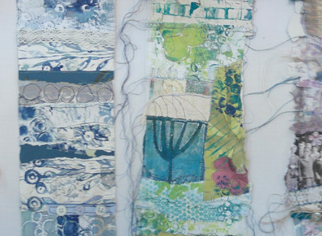 Day 2 @Creative Threads workshop and Print, Collage & Stitch