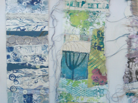 Day 2 @Creative Threads workshop and Print, Collage & Stitch