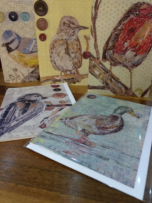 Set of 5 'Birdy' cards