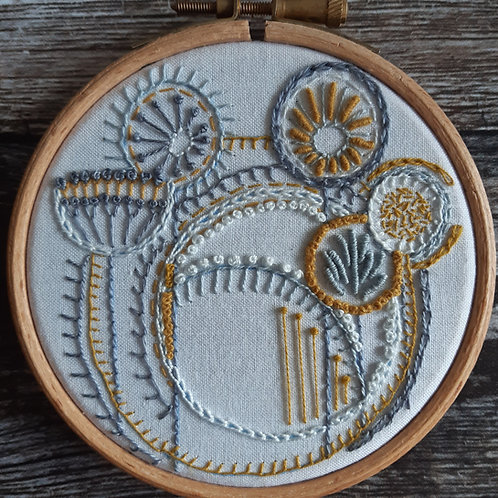 Embroidery template No 9 'Seed heads'