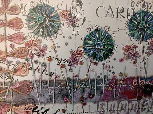 'Stitched postcard' card