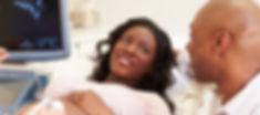 Woman getting ultrasound