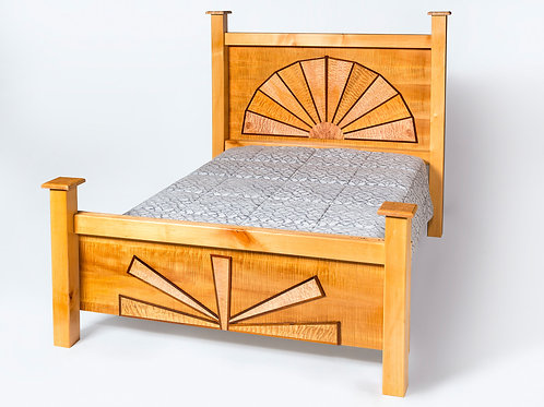 Wheel Design Bed Frame  Queen Size