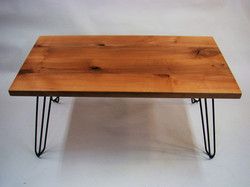 Rectangle Alder Coffee Table Front View.