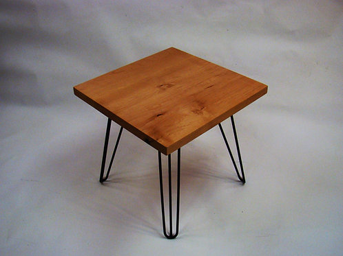 "Square Alder Accent Table  22""L x 22""W x 21""H"
