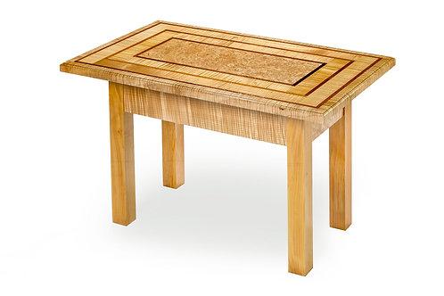 "Large Rectangle Accent Table w/Burl Center 35-1/2""L x 22-1/2""W x 23""H"