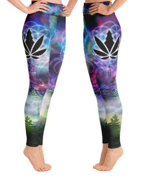 Cascadia Gardens Galaxy Yoga Leggings