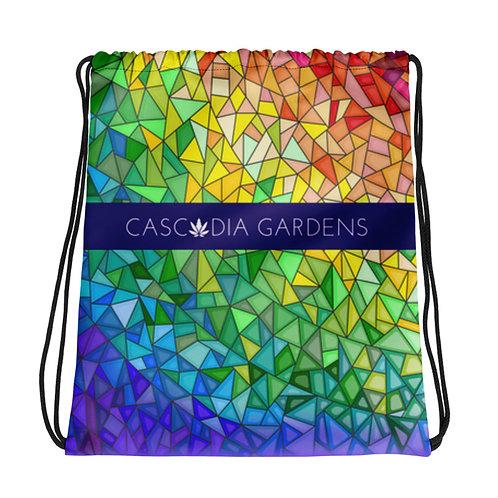 Cascadia Gardens Drawstring Bag