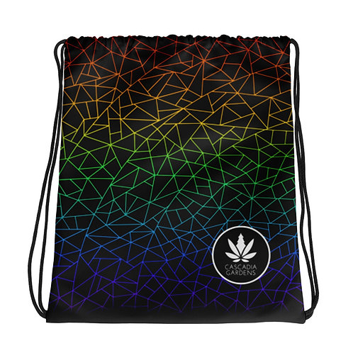 Cascadia Gardens- Illuminated Linework Logo Drawstring Bag