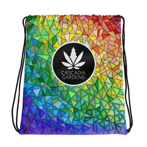 Cascadia Gardens Logo Drawstring Bag