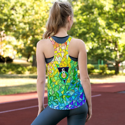 Womens Sublimation Racerback Tank Top- CGD Original