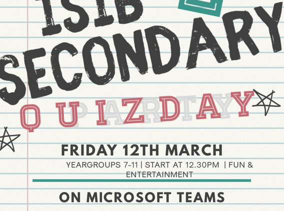 ISIB Secondary Quiz Day!