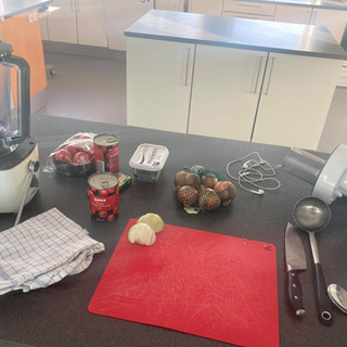 Year 6 cooking  - soup