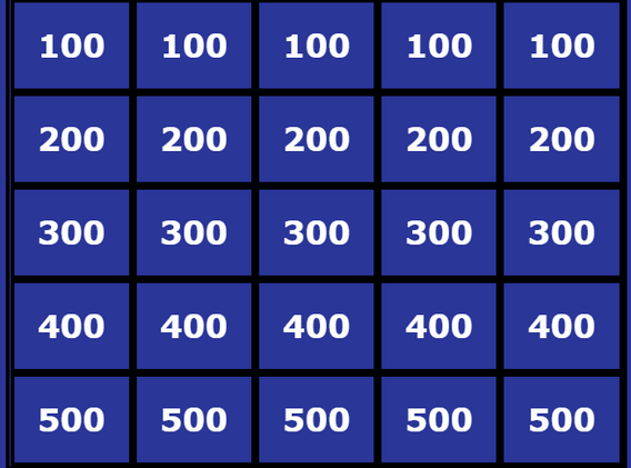 Jeopardy quiz
