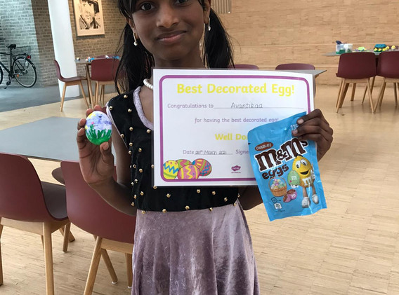 Easter egg decorating competition