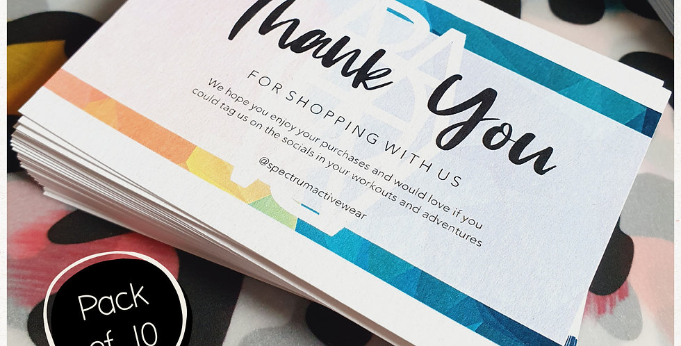 REPEAT ORDER 10pk Thank You Mini Cards