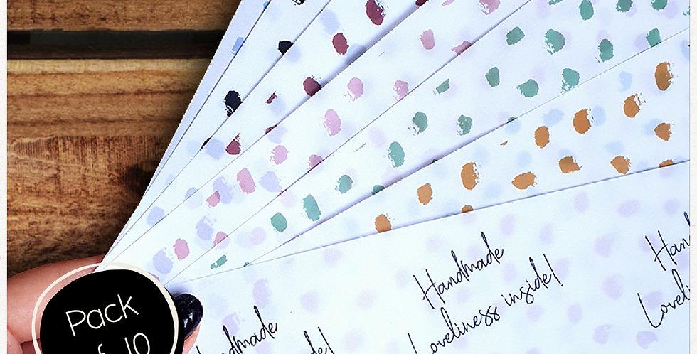 10pk - A4 Patterned Transparent Wrap Sheets