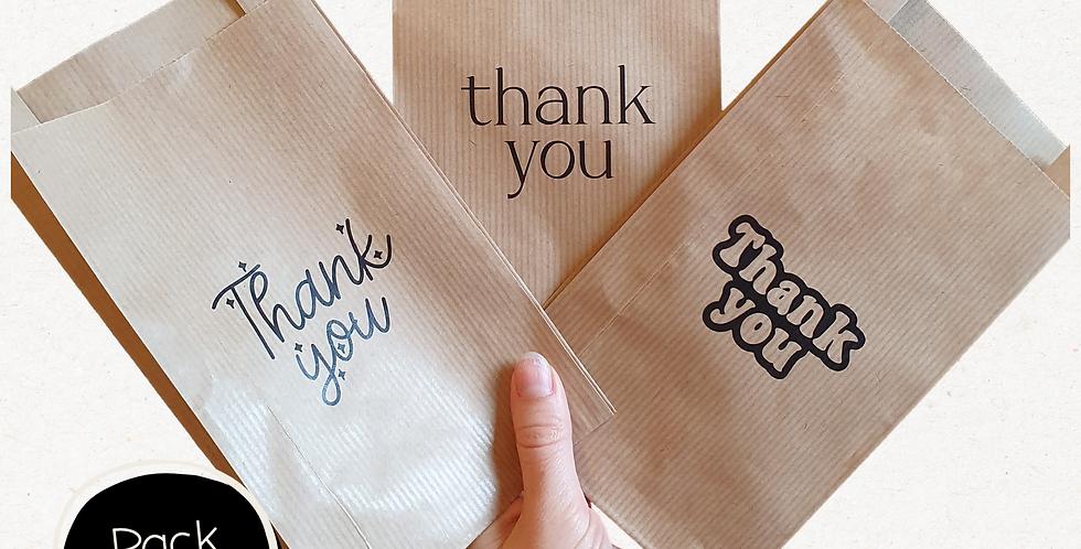 10pk - Thank You Paper Bags
