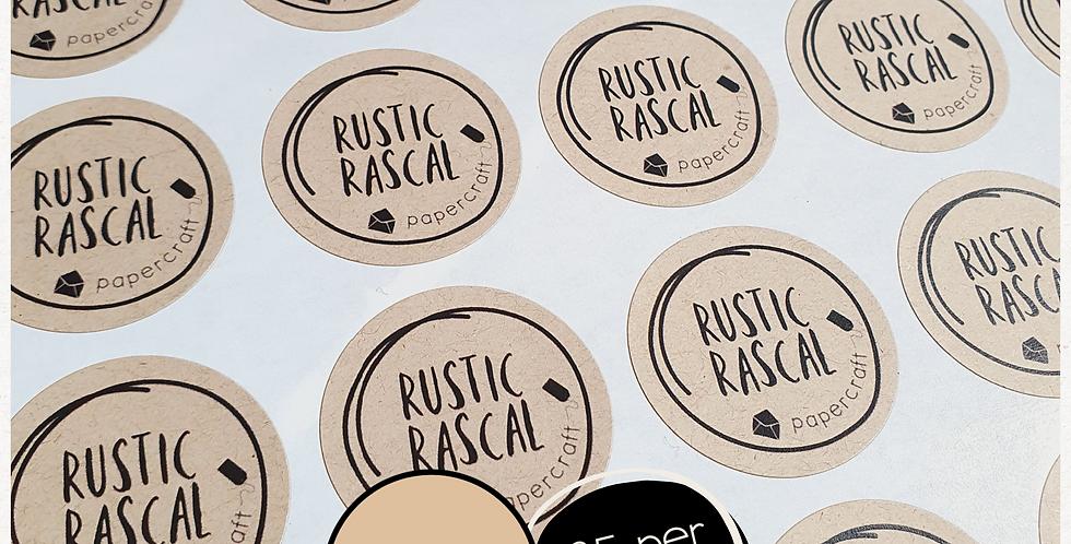 REPEAT ORDER 35mm Circle Stickers - Kraft Brown