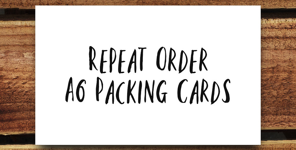 10pk A6 Business Packing Postcards/ REPEAT ORDER