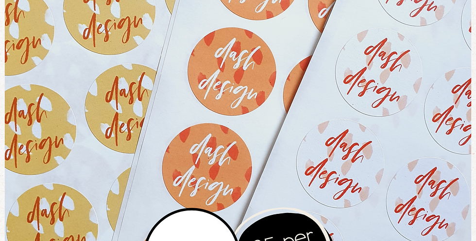 REPEAT ORDER 35mm Circle Stickers - White or Colour