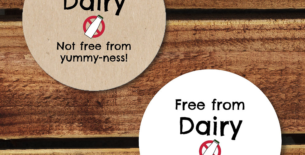 Recycled Stickers/ Dairy Free 35mm