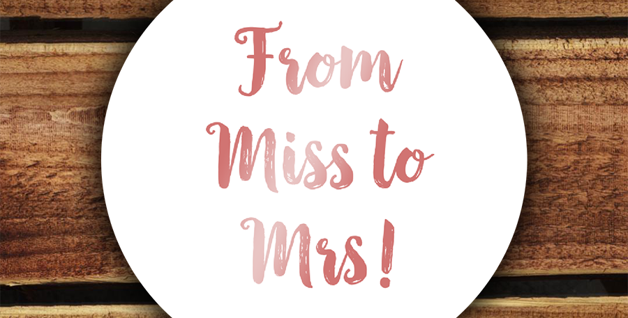 Recycled Hen Party Stickers/ 35mm Miss to Mrs