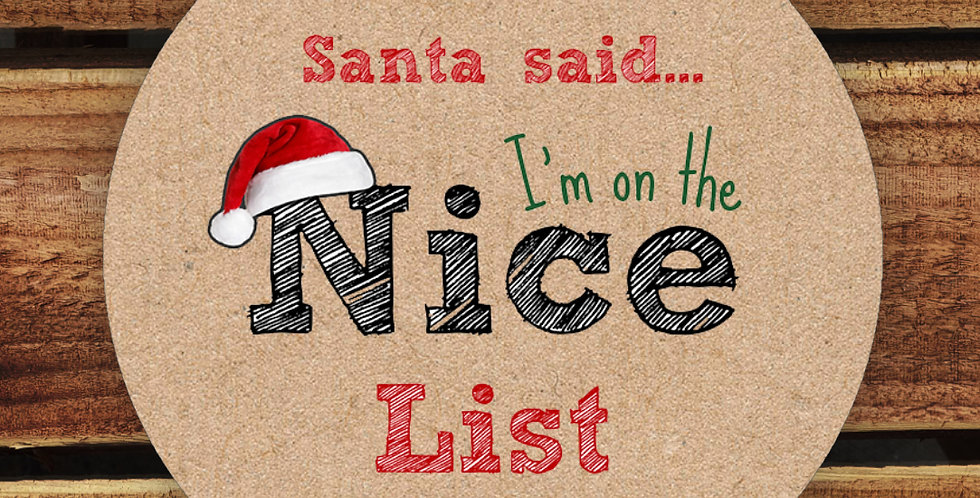 Recycled Stickers/ Nice List Santa Stickers