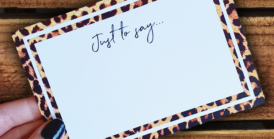 10pk/ Leopard Note Cards