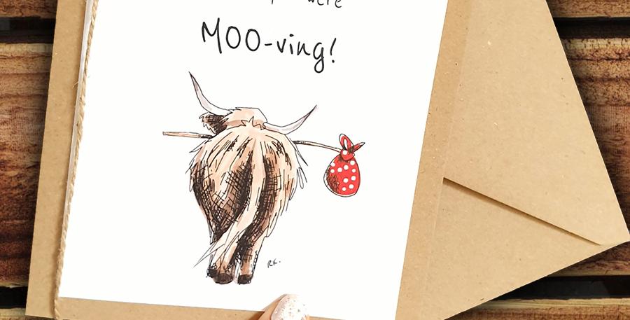 Moo-ving Card