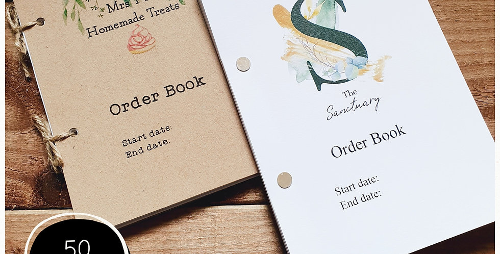 A5 Order Book - 50 Pages - Add your Logo