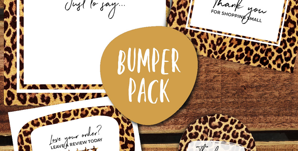 30pk/ Leopard Bumper Pack Small Biz Packaging