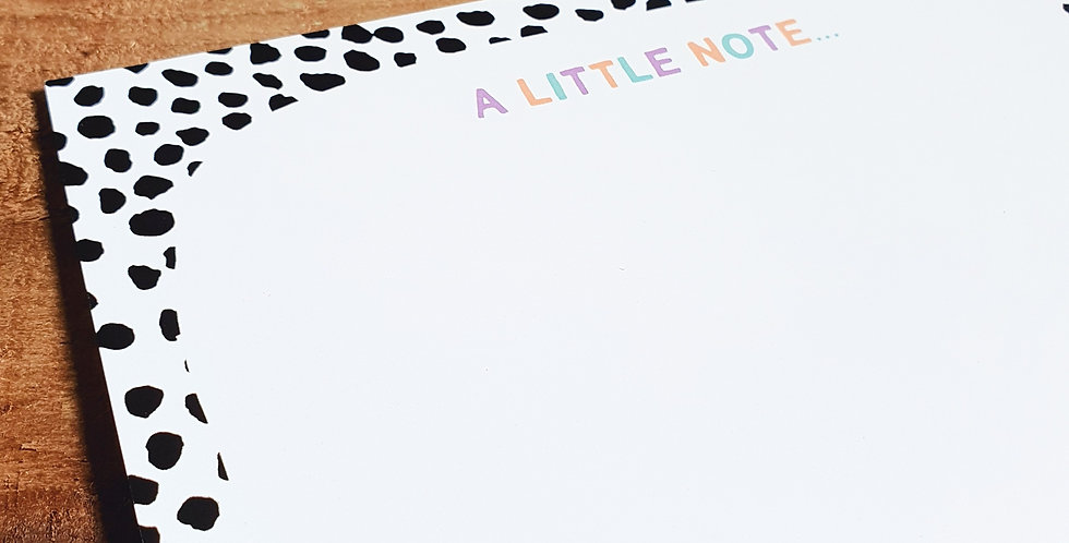 10pk/ Dalmatian Note Cards/ Pastel Rainbow