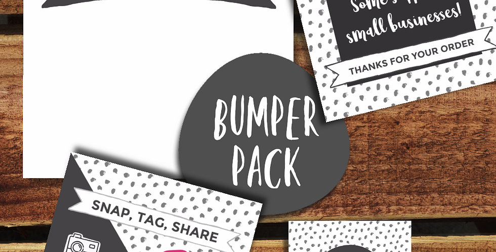 20pk - Spotty Grey Small Biz Packaging Bundle