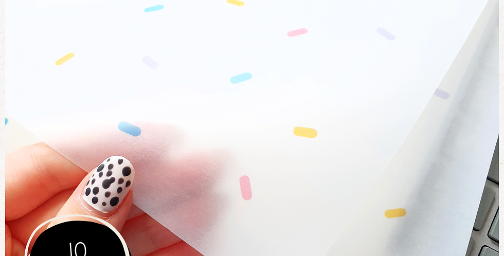 10pk - Sprinkle Transparent Wrap Sheets - A4
