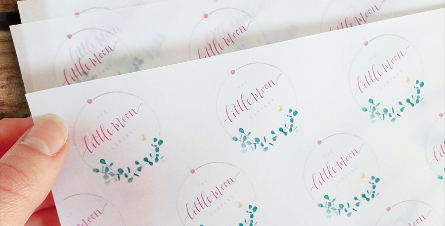 10pk/ A4  Logo Vellum Wrapping Sheets/ REPEAT ORDER