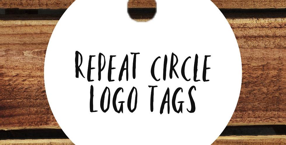 10pk Logo Circle Tags/ 50mm REPEAT ORDER