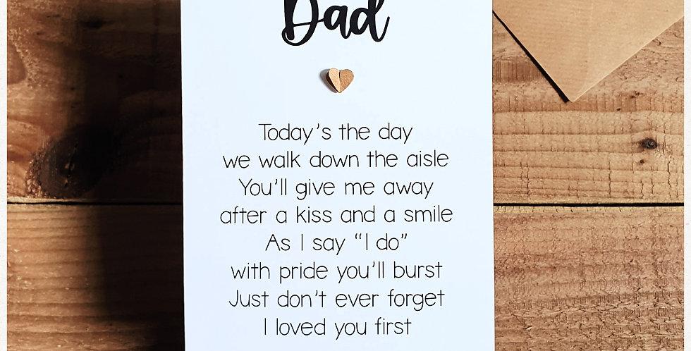 Dad Wedding Card