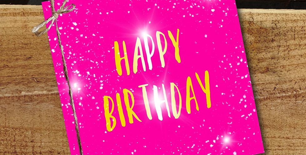 Happy Birthday Card/ Pink