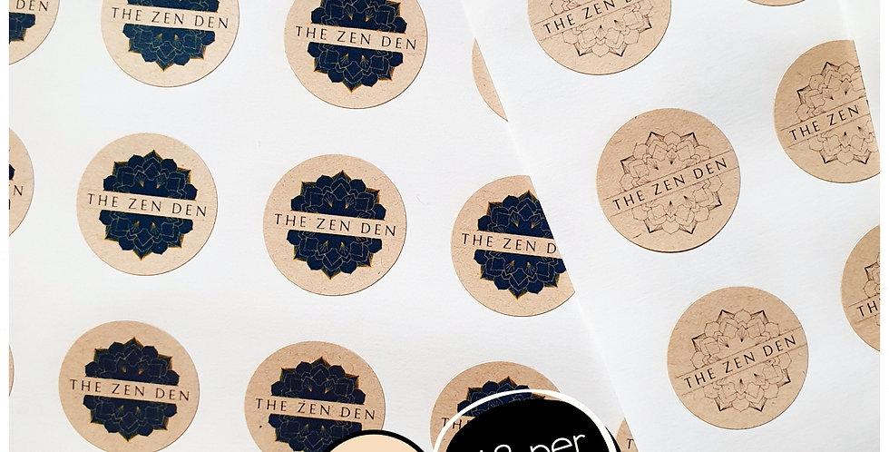 REPEAT ORDER 25mm Circle Stickers - Kraft Brown