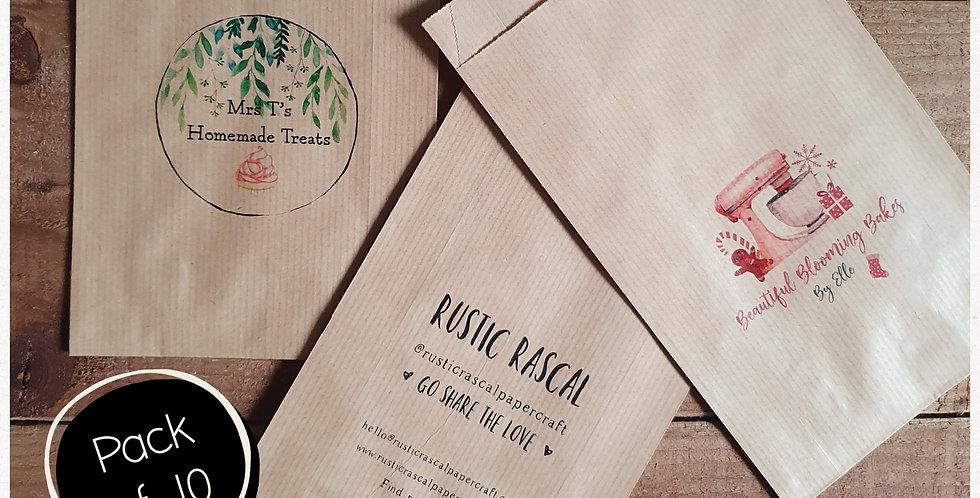 10pk - Small Brown Paper Bags