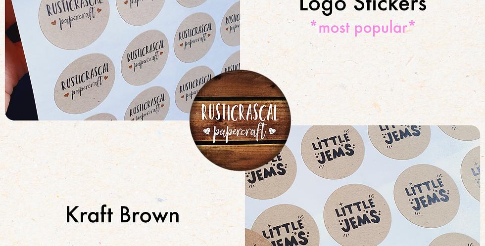 REPEAT ORDER Logo Stickers 35mm/ Kraft Brown