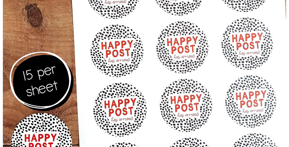 51mm Happy Post Stickers - Dalmatian